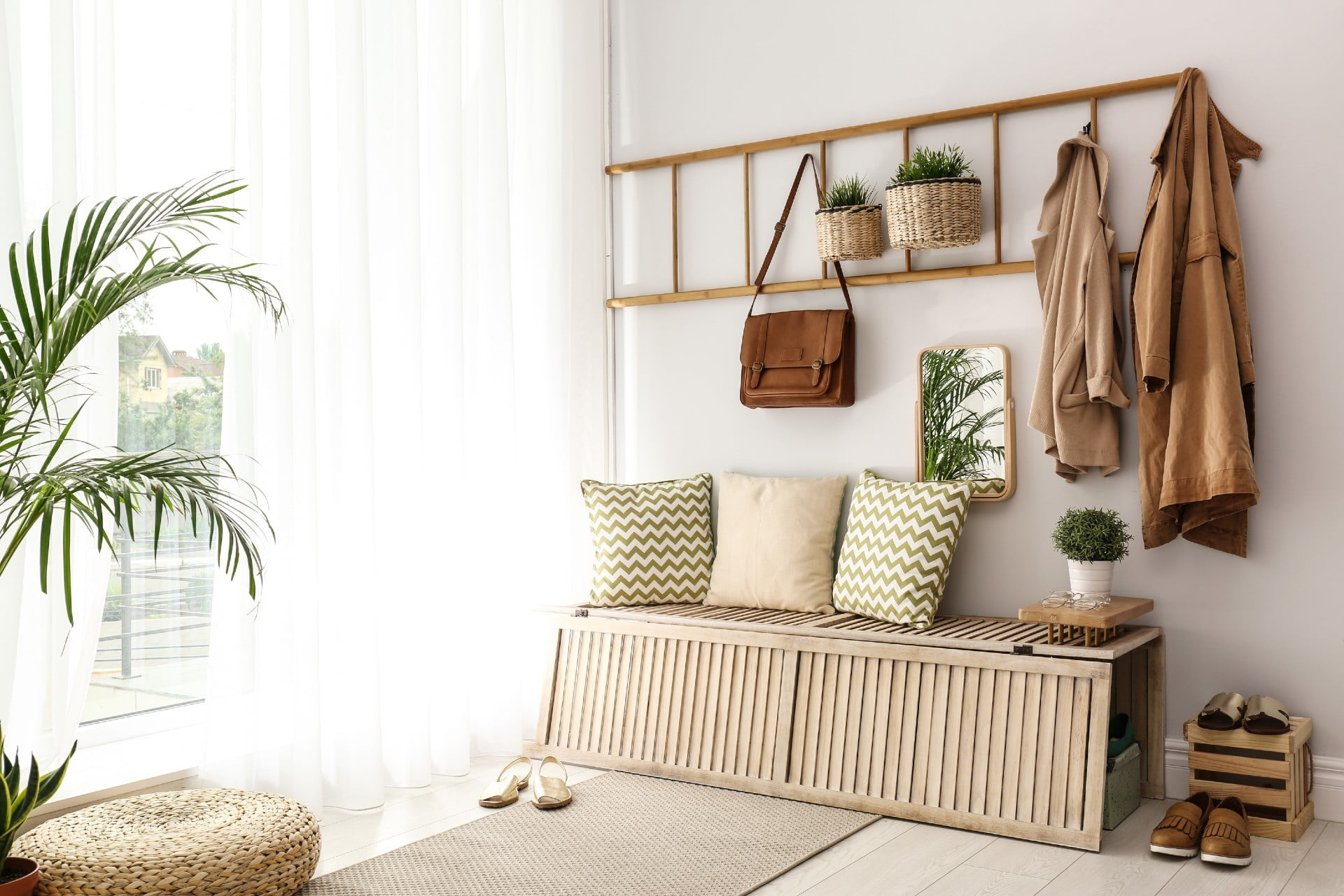 entryway with storage
