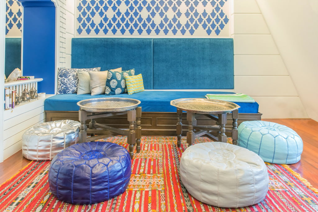 Moroccan inspired living room