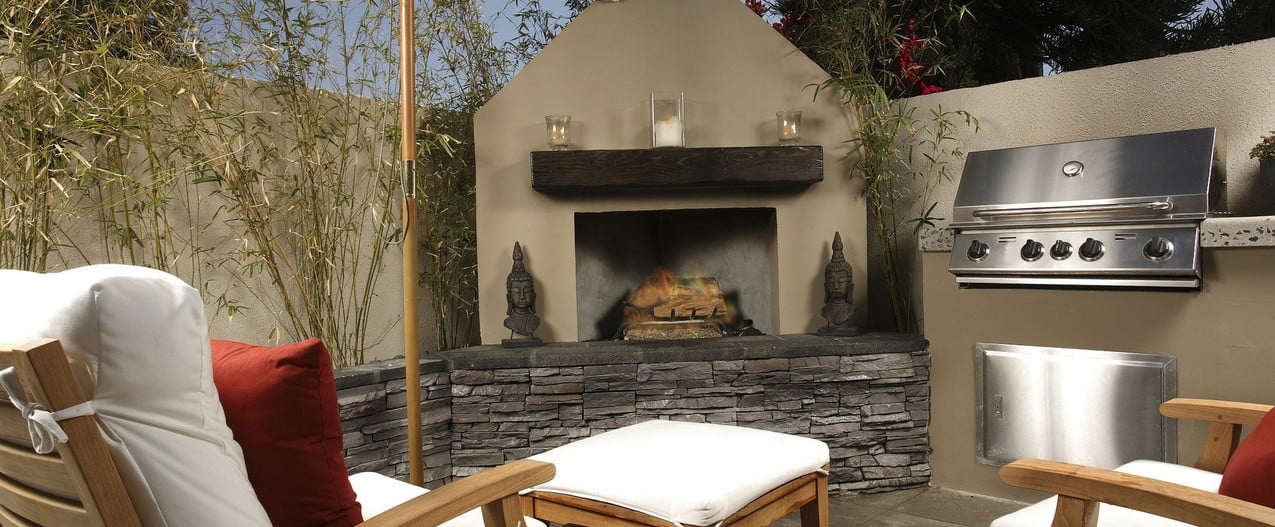 patio diy cheap furniture and fireplace