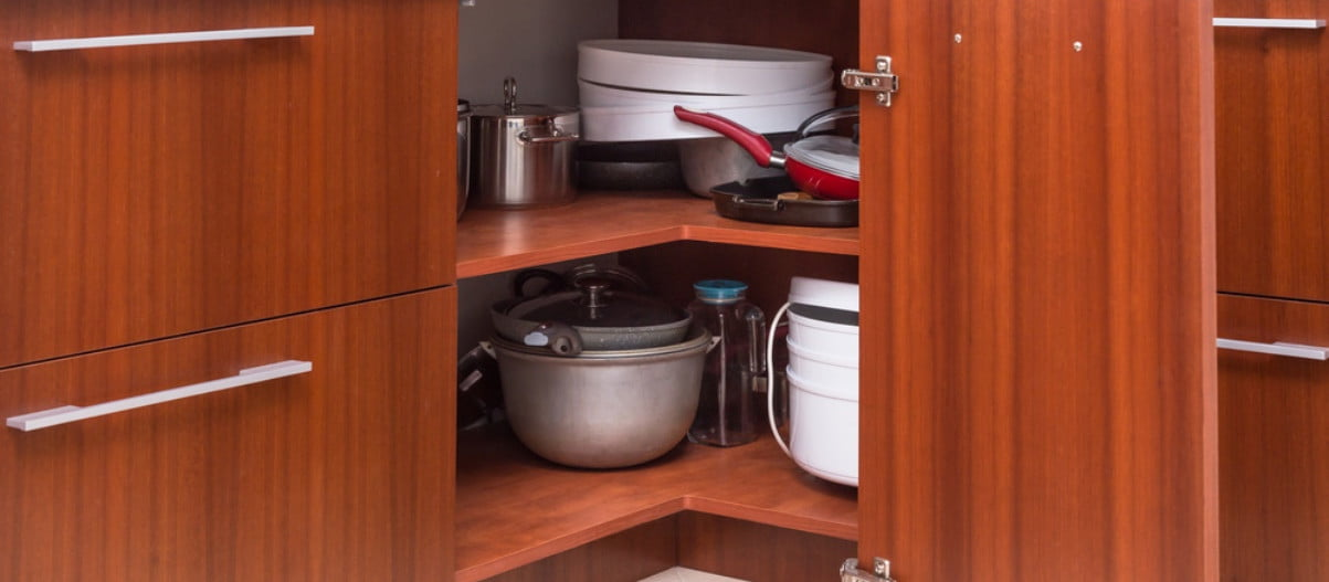 corner cabinet appliance storage