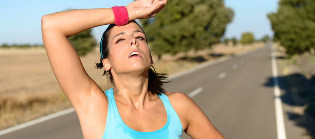 workouts during summer tired runner
