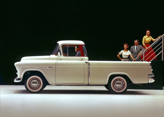 torque camionetas chevrolet 1955 3100 series cameo carrier half ton pickup with 265 cubic inch  4 3l v 8 engine rated at 180
