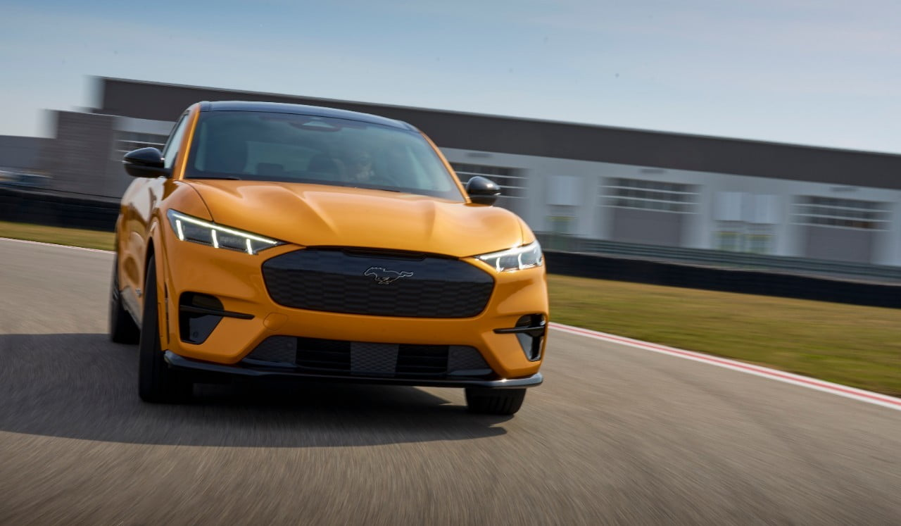 2021 Mustang Mach-E GT on track