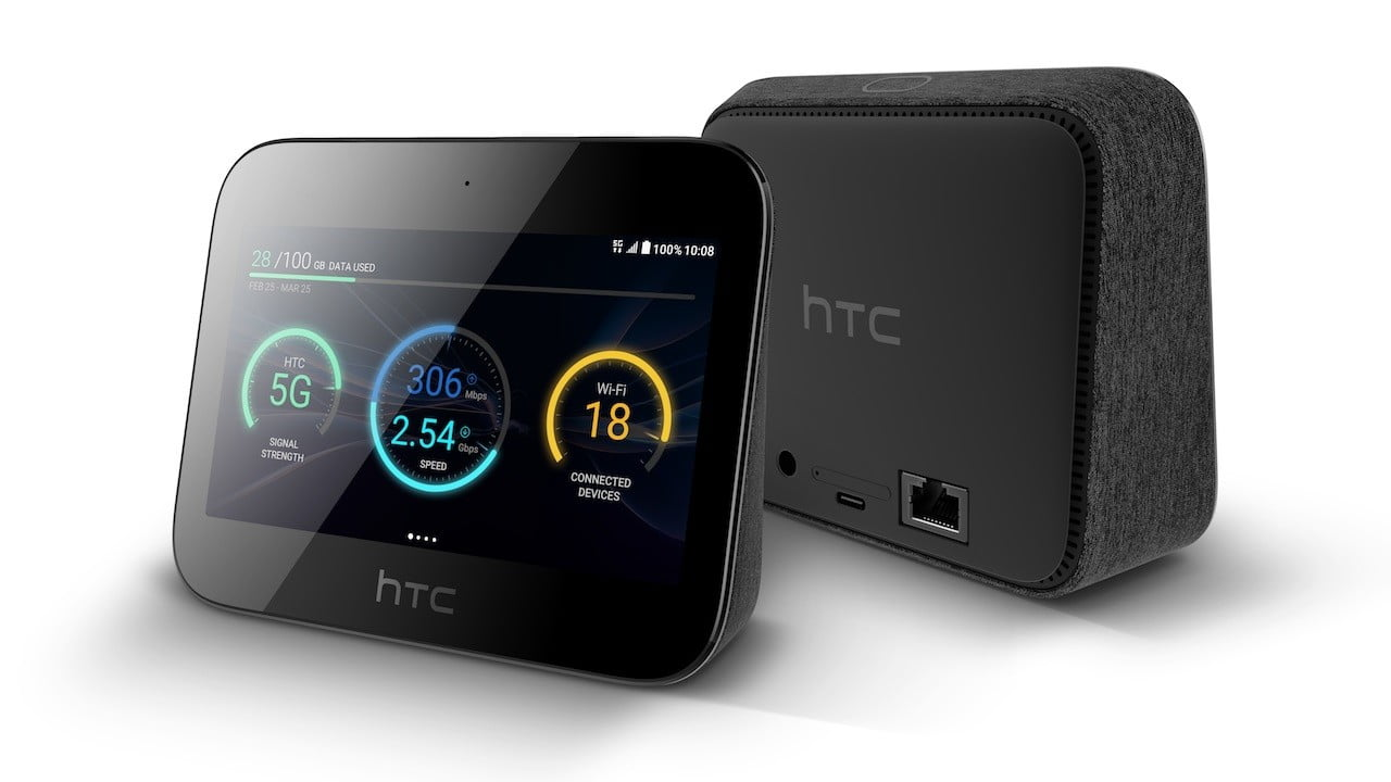 htc hub 5g front and back angle