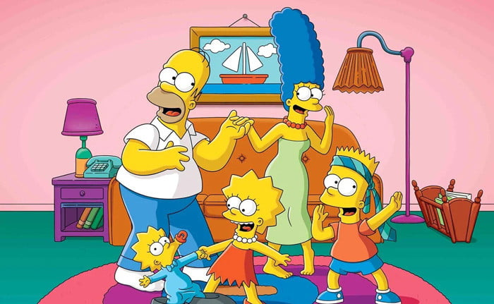 Art from the animated series The Simpsons.