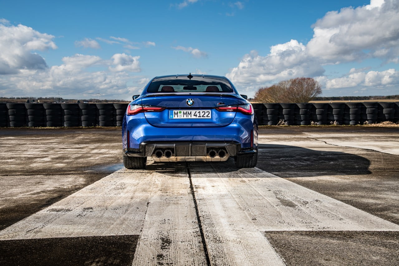 BMW M4 competition rear view