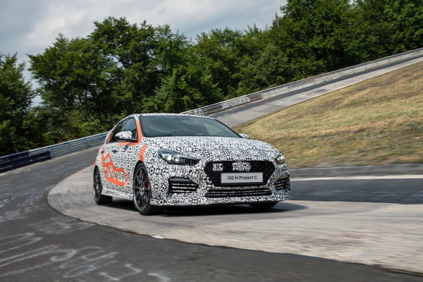 hyundai i30 n project c driving front 2 600x400