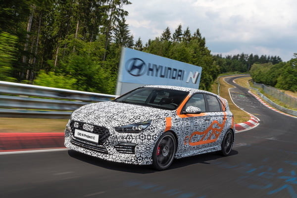 hyundai i30 n project c driving front 5 600x400
