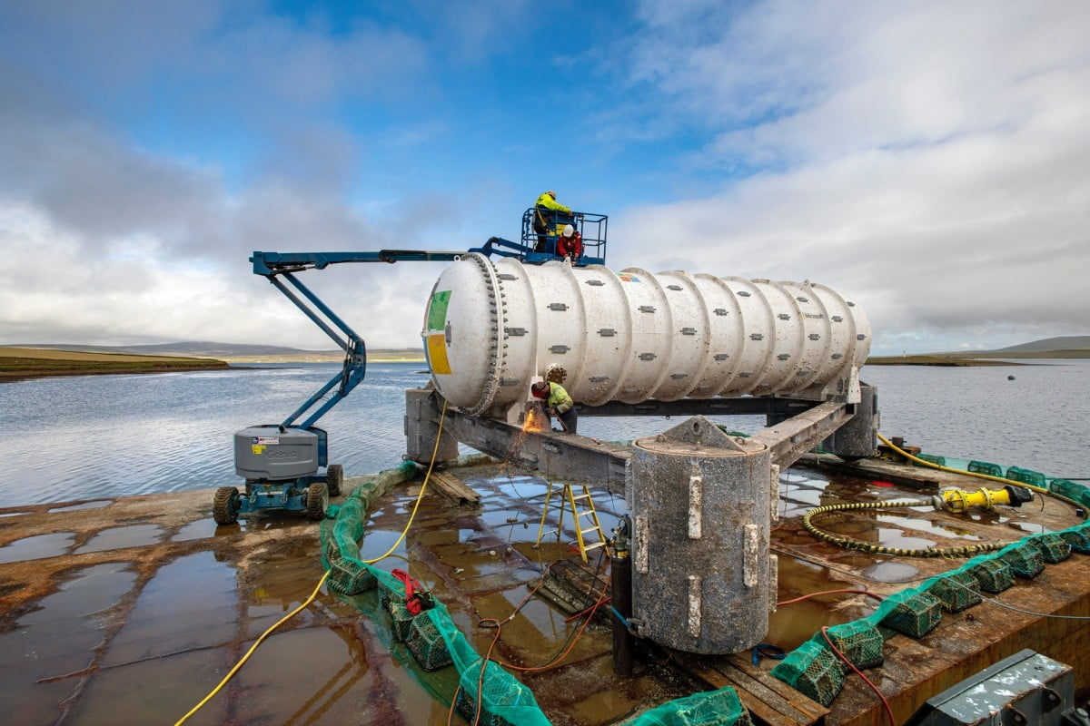centro datos submarino microsoft eficacia project natick  vessel retrieval stromness orkney tuesday 7th to wednesday 15th of