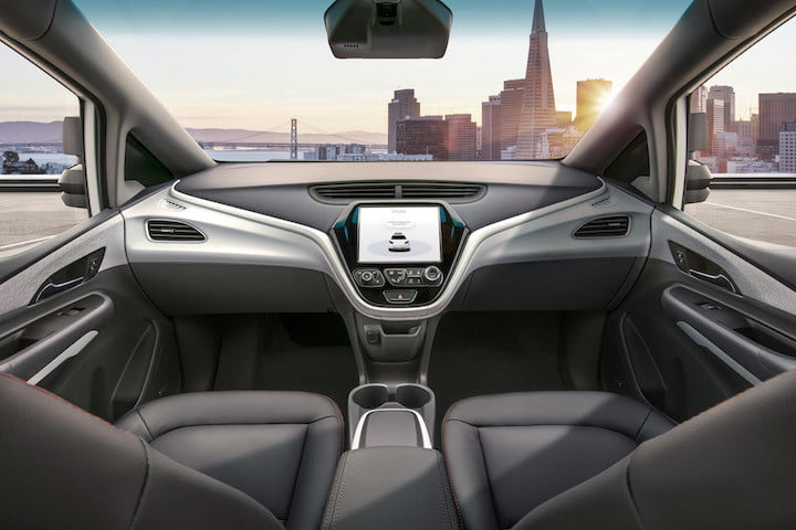 general motors cruise av the is designed to operate safely on its own  with no driver steering wheel pedals or other manual c