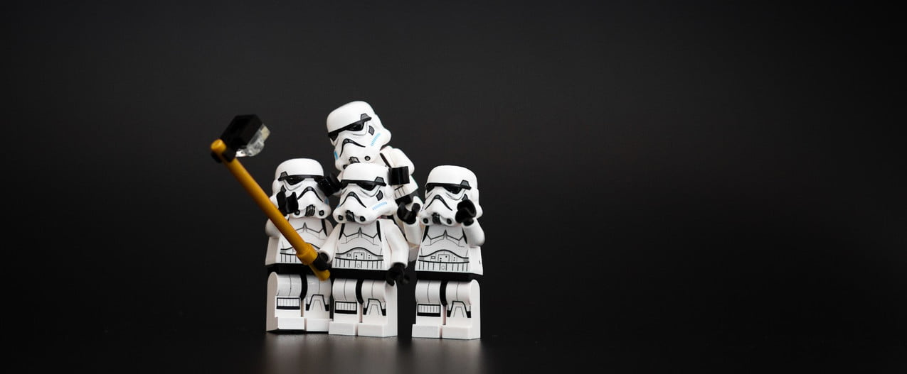 Star Wars stormtroopers as Lego toys