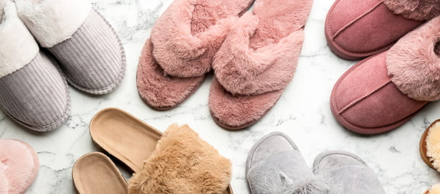 Variety of comfortable house shoes